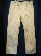 North No Name /HERRINGBONE STRIPE PANTS (WHITE)
