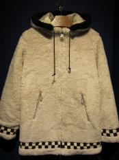 "5WHISTLE / ""CHECKER"" CHIRORIAN COAT (BEIGE)"