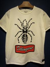 Delinquent Bros /SPIDER TEE (WHITE)
