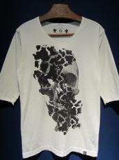 "GAVIAL / 5s Uneck Tee""mannish skull""  (off white)"