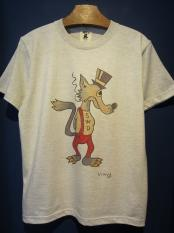 "Vinny×EDWARD LOW ""Wolf's tail"" TEE(OATMEAL)"