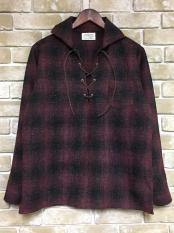 【予約】5WHISTLE /  LACE-UP WOOL SHIRT (RED)(BLK)