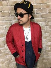 【予約】5WHISTLE /  QUILT CARDIGAN (RED)(BLK)