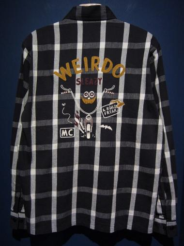 WEIRDO  ROAD FREAK - L/S SHIRTS (BLACK)