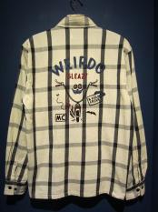 WEIRDO  ROAD FREAK - L/S SHIRTS (IVORY)