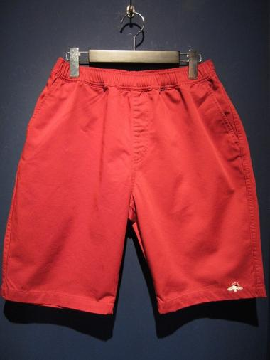 "NORTH NO NAME ""KILROY WAS HERE"" SHORTS (RED)"