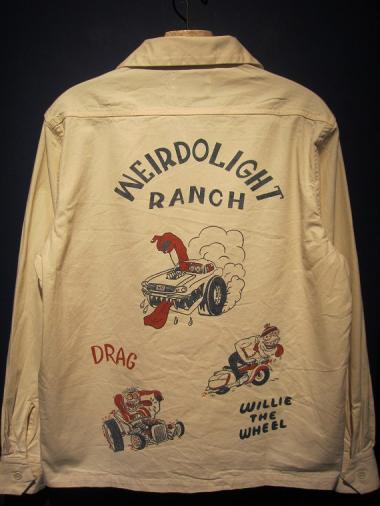 WEIRDO  WEIRDOLIGHT RANCH - L/S SHIRTS (IVORY)
