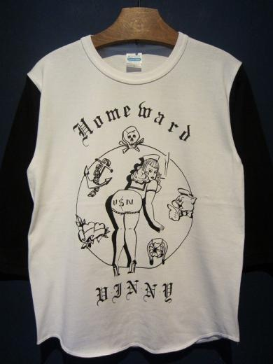 "Vinny ""Homeward"" 七分T (WHT×BLACK)"