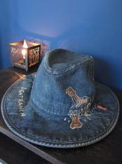 WEIRDO  WEIRDOLIGHT RANCH - DENIM HAT (HAND PAINT)