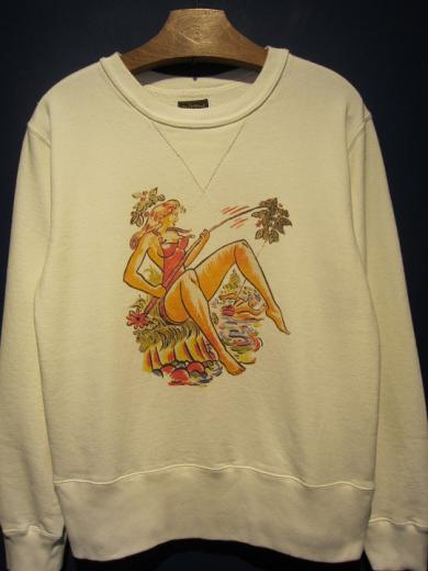 Delinquent Bros / PIN UP GIRL CREW SWEAT SHIRTS