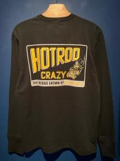 WEIRDO  HOTROD CRAZY - L/S T-SHIRTS (BLACK)
