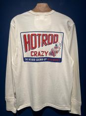 WEIRDO  HOTROD CRAZY - L/S T-SHIRTS (WHITE)