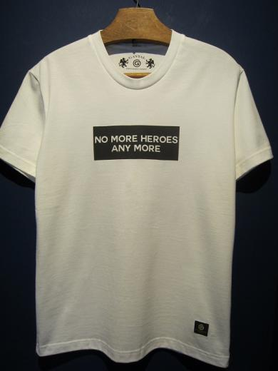 "GAVIAL / s/s round neck Tee""NM HEROES""  (white)"