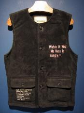 "WEIRDO  WEIRDOLIGHT RANCH - VEST ""HOG SKIN""(BLACK)"