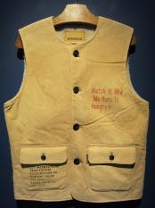 "WEIRDO  WEIRDOLIGHT RANCH - VEST ""HOG SKIN""(BEIGE)"