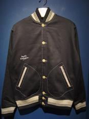 NORTH NO NAME / COTTON VARSITY JACKET(BLACK)