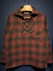 5WHISTLE /  LACE-UP WOOL SHIRT (RED)