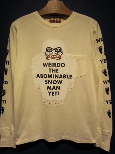 WEIRDO  YETI - L/S T-SHIRTS (WHITE)
