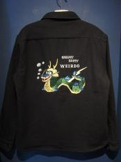 WEIRDO  SNAPPY HAPPY WEIRDO -  CPO SHIRT (NAVY)