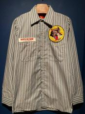 NORTH NO NAME/ WOLVES STRIPE WORK SHIRTS (LG)