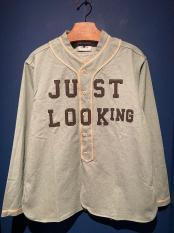 WEIRDO / JUST LOOKING - L/S BASE BALL SHIRTS (GRN)