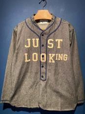 WEIRDO / JUST LOOKING - L/S BASE BALL SHIRTS (BLK)