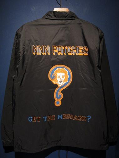 "NORTH NO NAME/""GET THE MESSAGE?"" CORCH JACKET(BLK)"