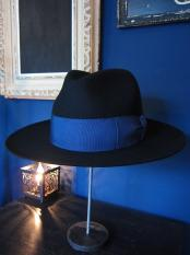 GAVIAL / center crease felt hat (BLACK)