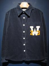 WEIRDO  W COLLEGE - L/S SHIRTS (NAVY)