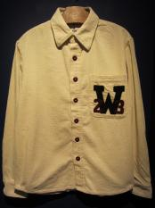 WEIRDO  W COLLEGE - L/S SHIRTS (IVORY)
