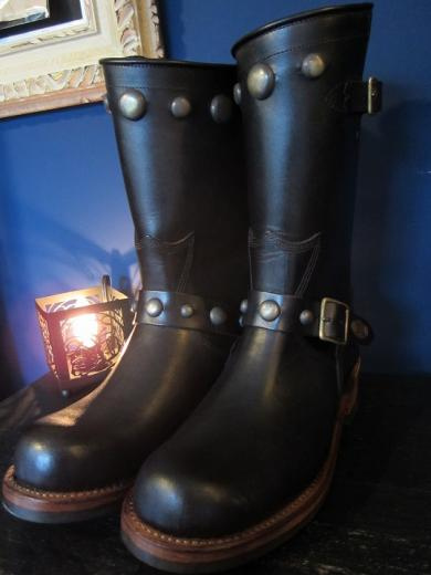 GLAD HAND×SANTA ROSA ENGINEER BOOTS-OAKLAND(STUDS)