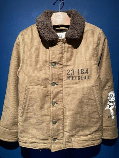 WEIRDO / WRD CLUB - DECK JACKET (HAND PAINT/KHAKI)