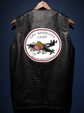 "NORTH NO NAME   ""HAND PAINT PATCH"" JERKIN VEST"