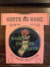North No Name FELT PATCH (ROSE)