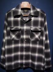 Delinquent Bros  SHADOW PLAID SHIRT (BLACK)