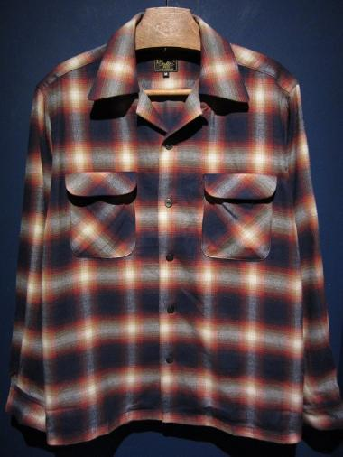 Delinquent Bros  SHADOW PLAID SHIRT (ORANGE)