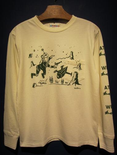 WEIRDO  ATOMIC SPACE - L/S T-SHIRTS (C)