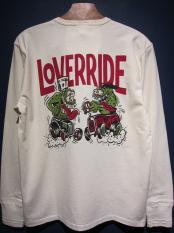 WEIRDO  LOVER RIDE - L/S HENRY  T-SHIRTS (WHITE)