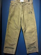 WEIRDO PADLOCKER - DECK PANTS(VINTAGE FINISH)KHAKI